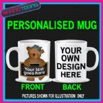PERSONALISED DESIGN BEAR DESIGN CUTE MUG GIFT 01